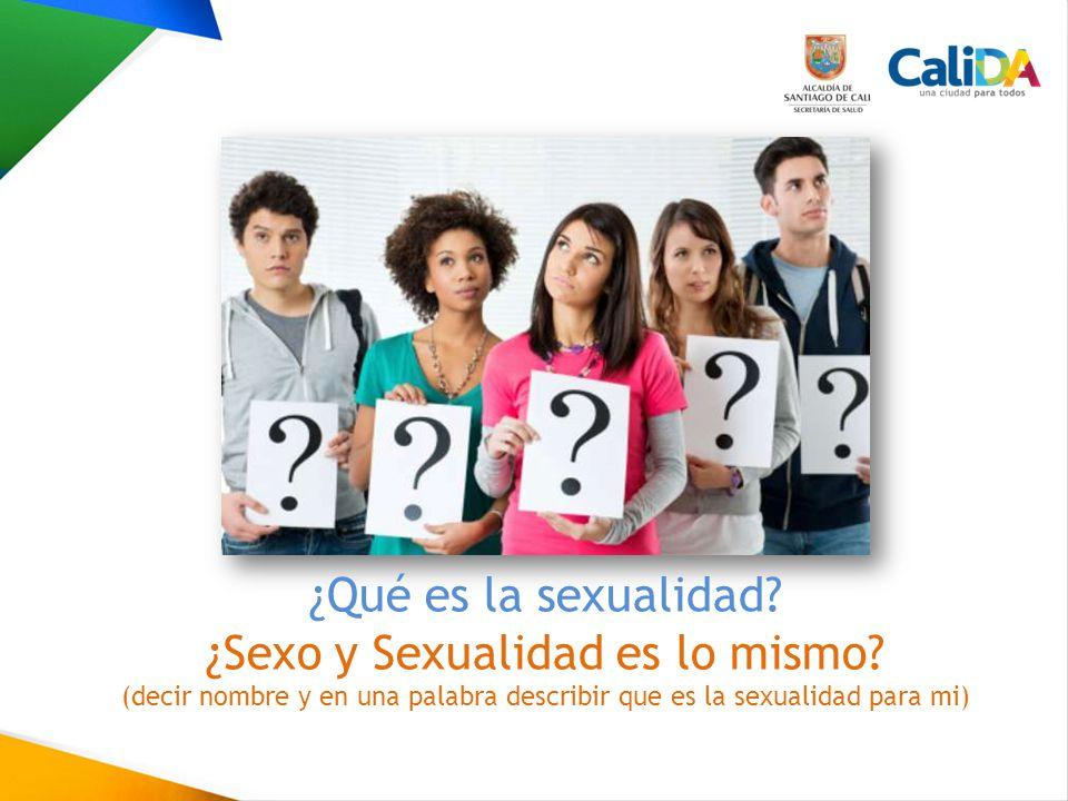 ¿Sexo y Sexualidad es lo mismo