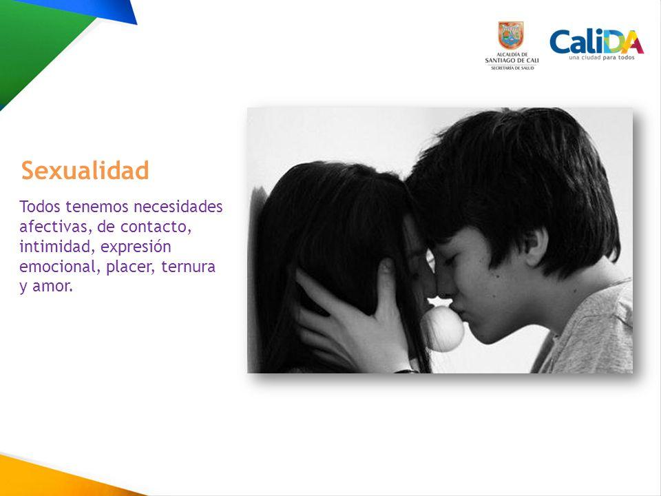 Sexualidad Todos tenemos necesidades afectivas, de contacto, intimidad, expresión emocional, placer, ternura y amor.