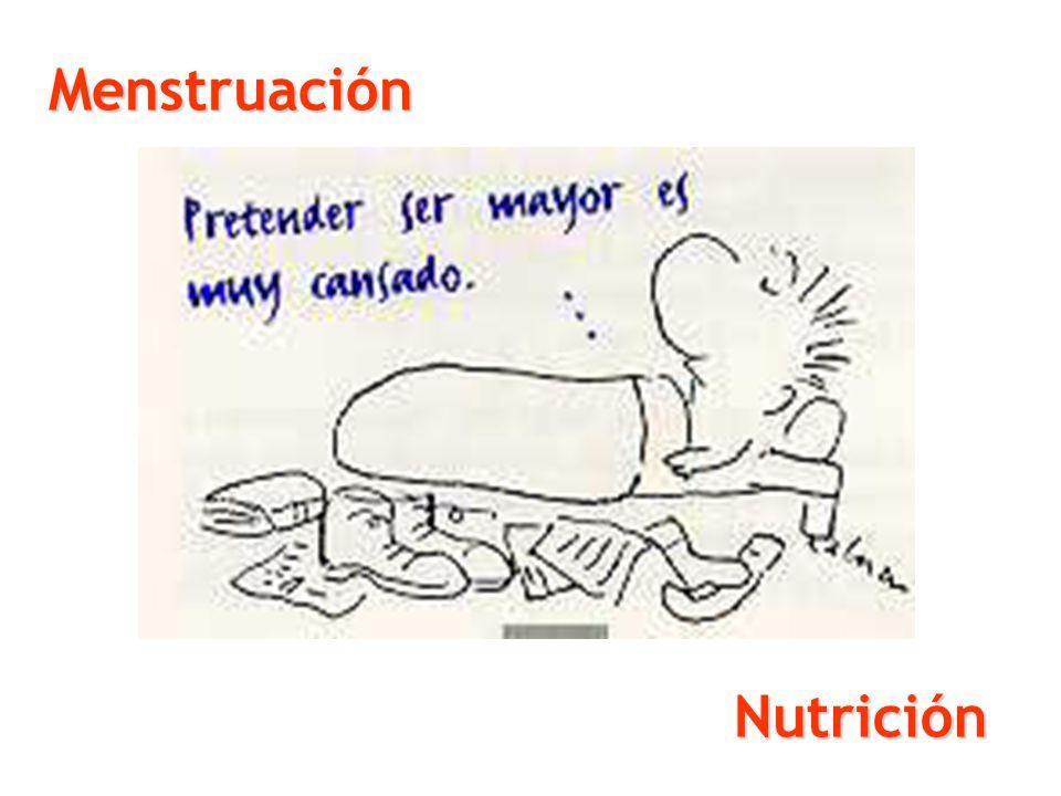Menstruación Nutrición