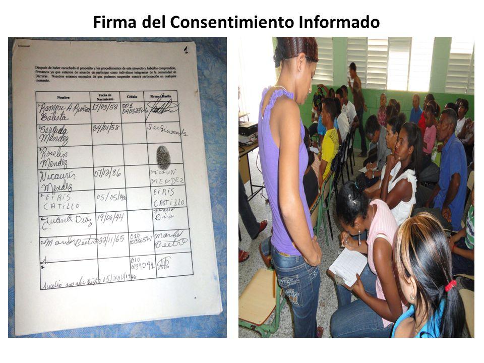 Firma del Consentimiento Informado
