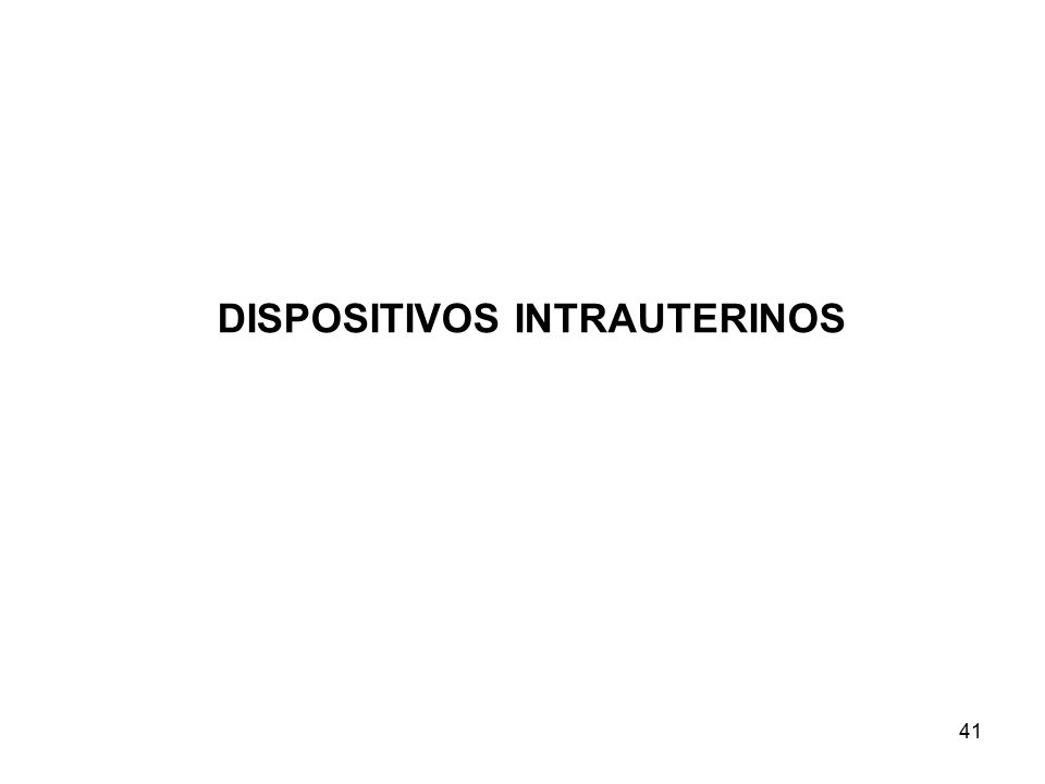 DISPOSITIVOS INTRAUTERINOS