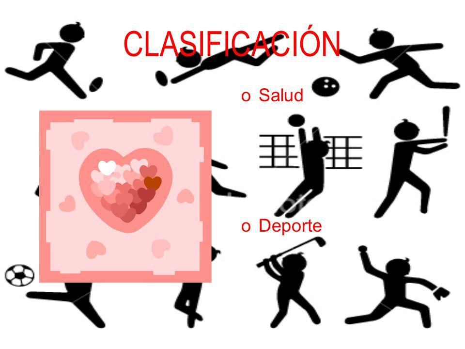 CLASIFICACIÓN Salud Deporte