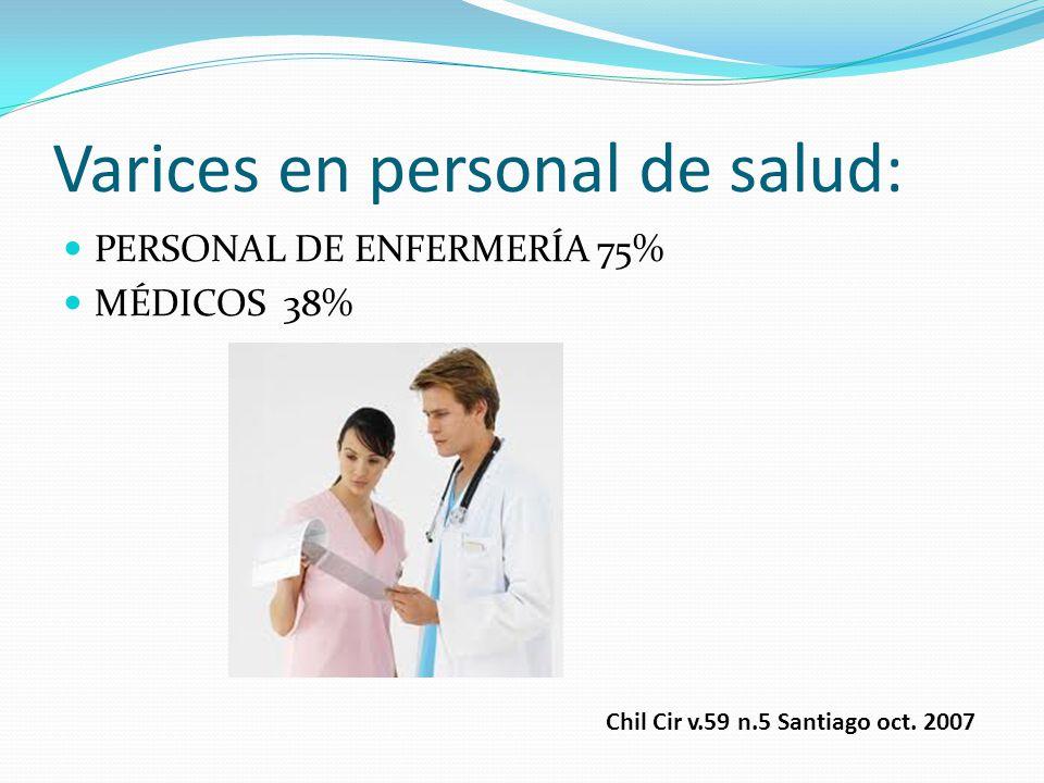 Varices en personal de salud: