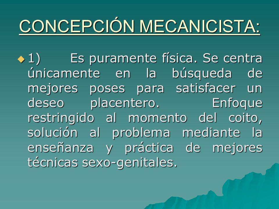 CONCEPCIÓN MECANICISTA: