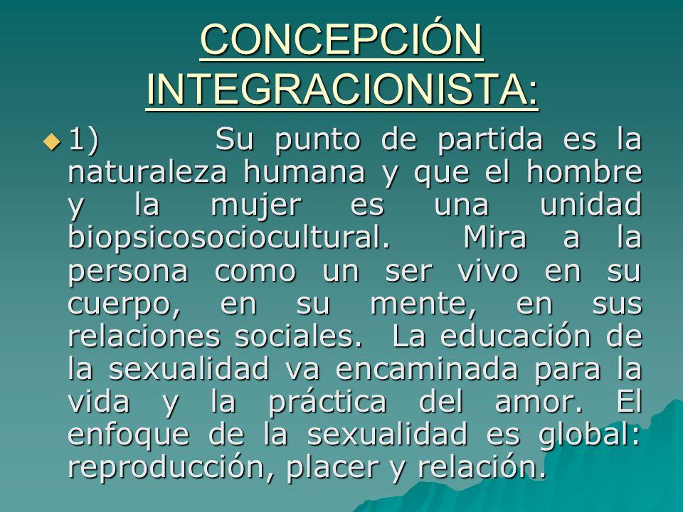 CONCEPCIÓN INTEGRACIONISTA: