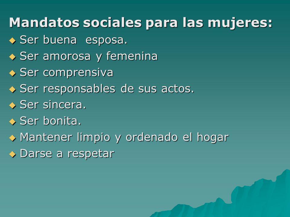 Mandatos sociales para las mujeres: