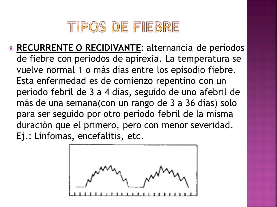 TIPOS DE FIEBRE