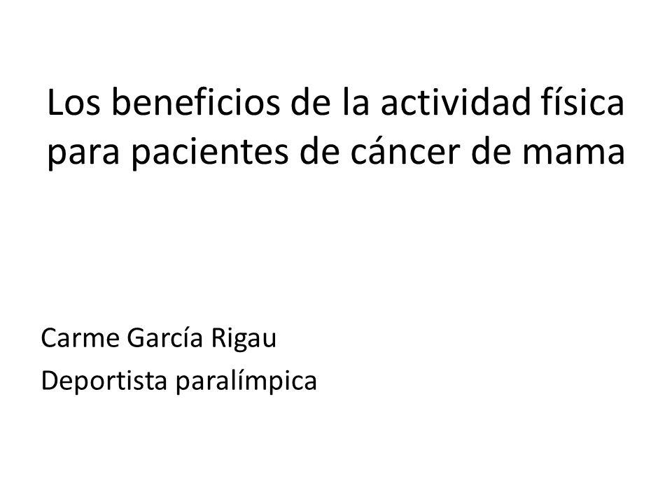 Los beneficios de la actividad física para pacientes de cáncer de mama