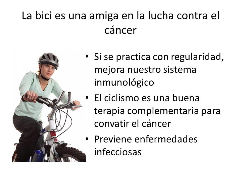 La bici es una amiga en la lucha contra el cáncer