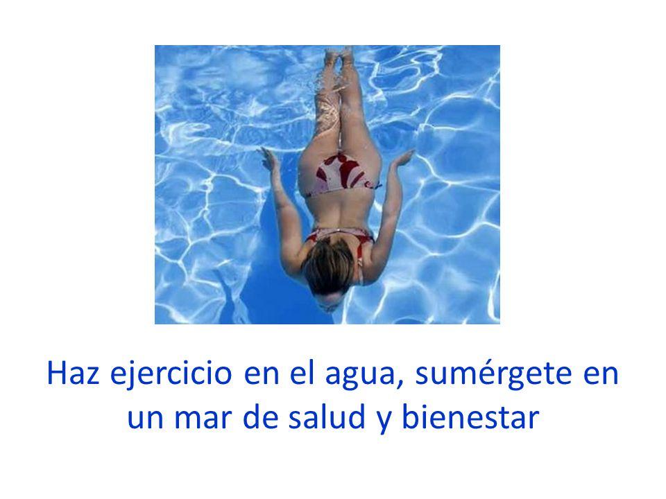 Haz ejercicio en el agua, sumérgete en un mar de salud y bienestar