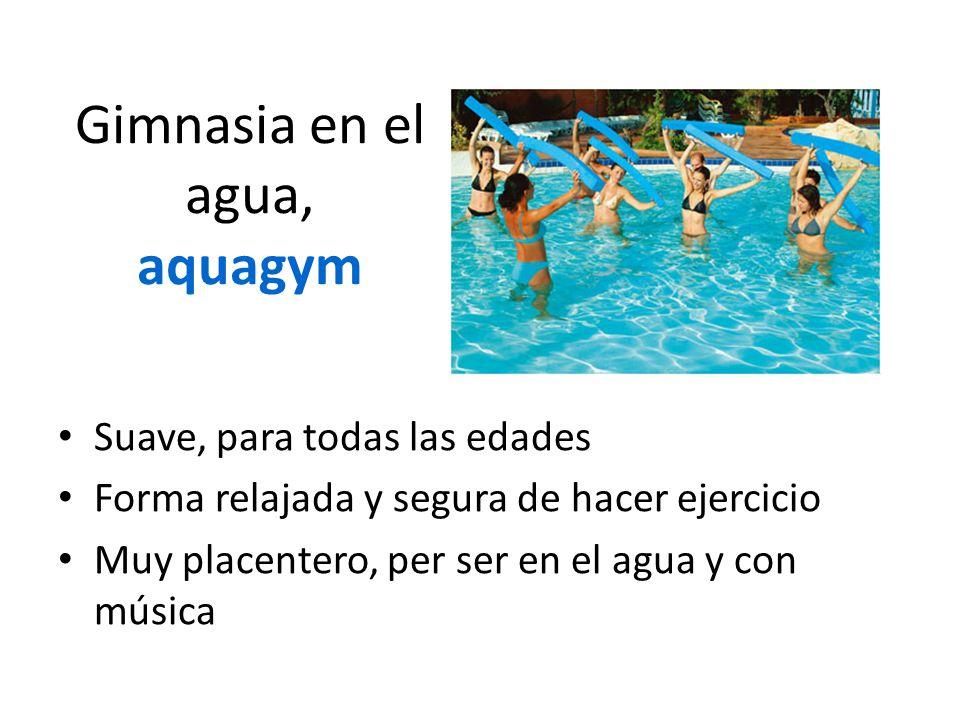 Gimnasia en el agua, aquagym