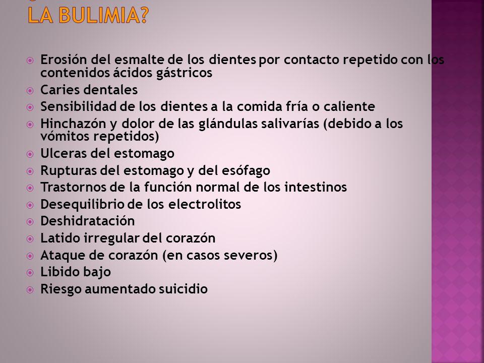 ¿Qué complicaciones se asocian con la bulimia