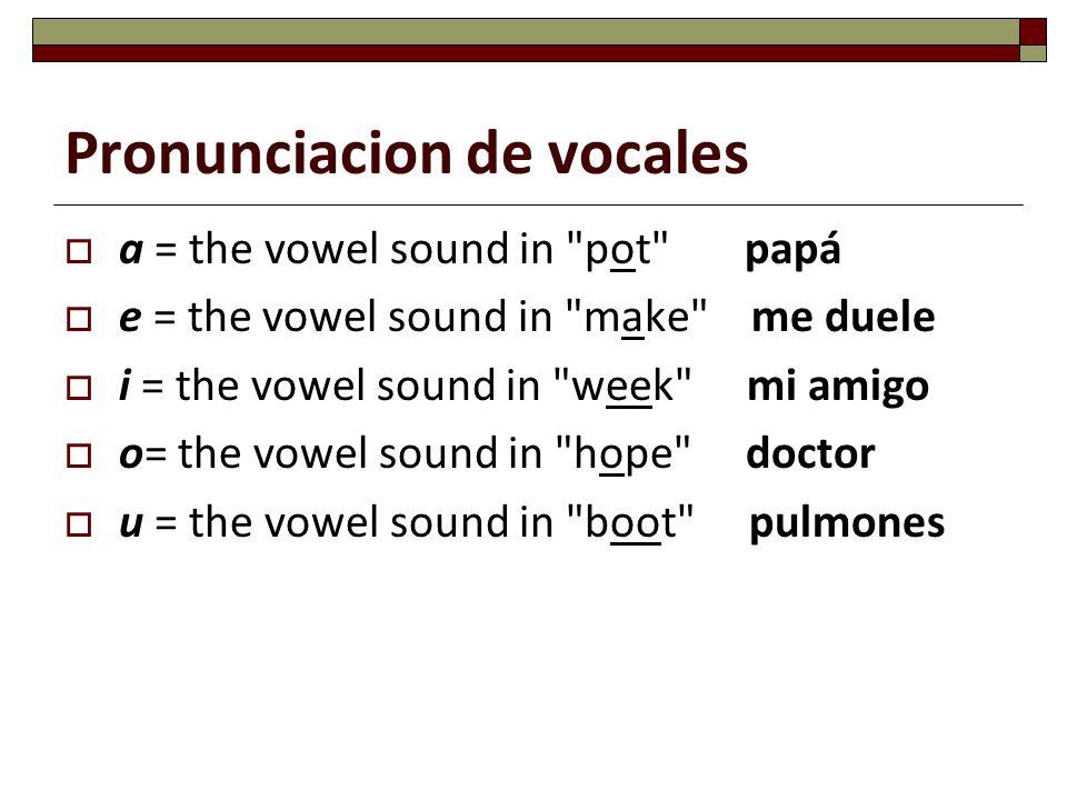 Pronunciacion de vocales