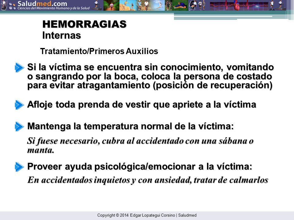 HEMORRAGIAS Internas. Tratamiento/Primeros Auxilios.