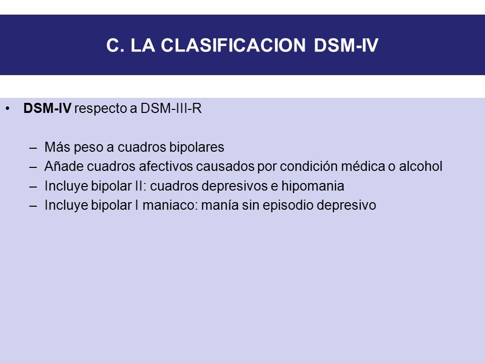 C. LA CLASIFICACION DSM-IV