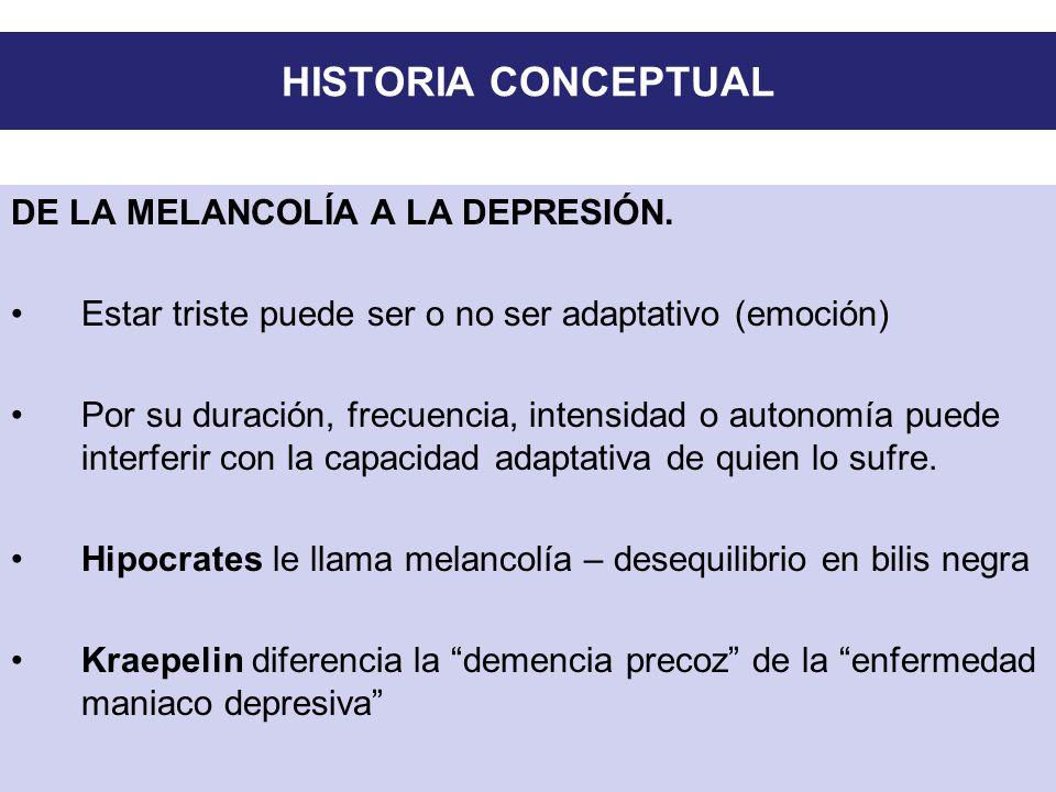 HISTORIA CONCEPTUAL DE LA MELANCOLÍA A LA DEPRESIÓN.