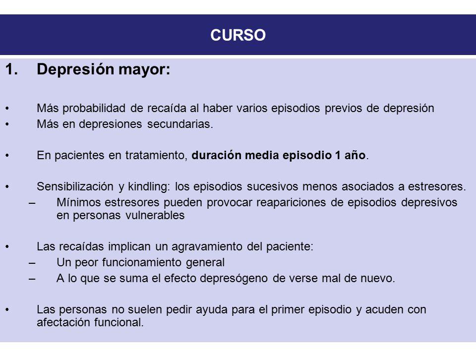CURSO Depresión mayor: