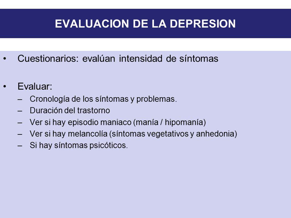 EVALUACION DE LA DEPRESION