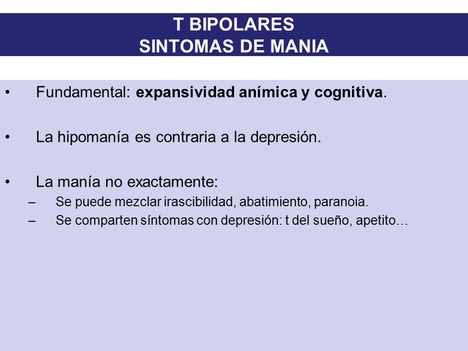 T BIPOLARES SINTOMAS DE MANIA