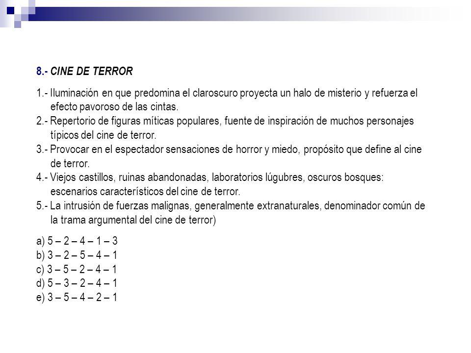 8.- CINE DE TERROR