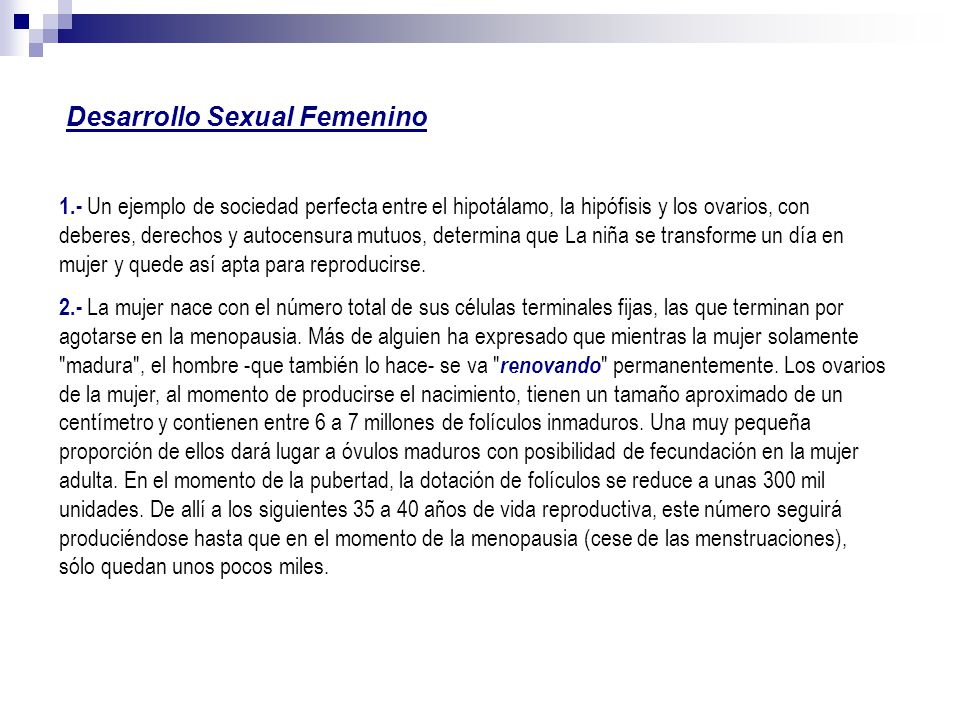 Desarrollo Sexual Femenino