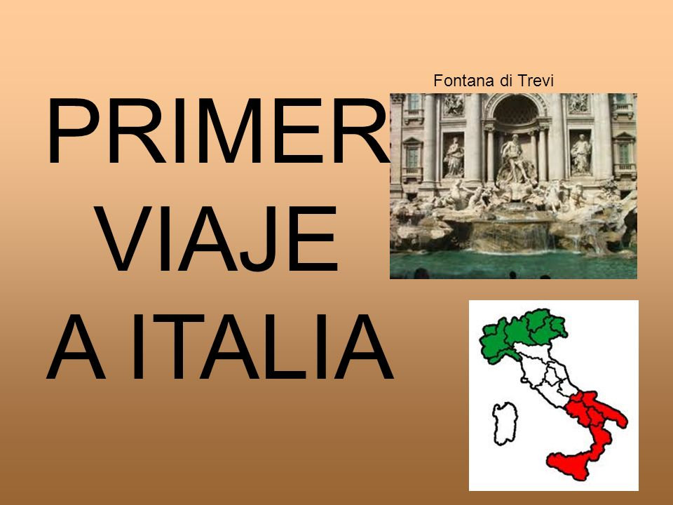 Fontana di Trevi PRIMER VIAJE A ITALIA