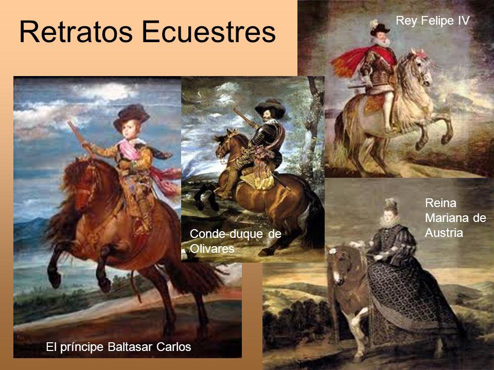 Retratos Ecuestres Rey Felipe IV Reina Mariana de Austria