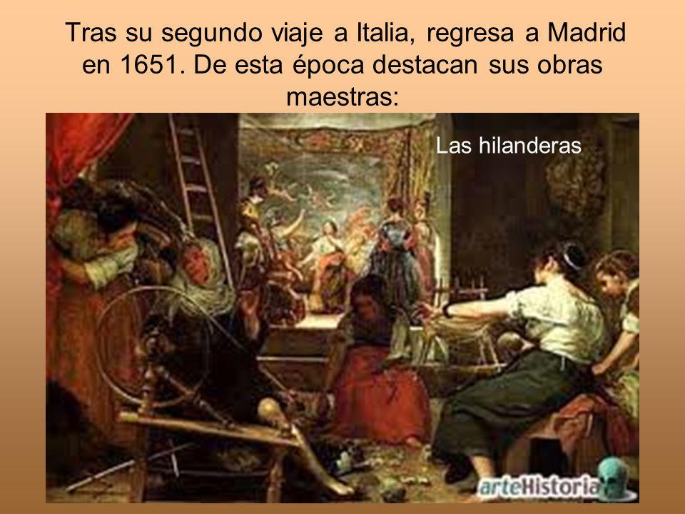 Tras su segundo viaje a Italia, regresa a Madrid en 1651