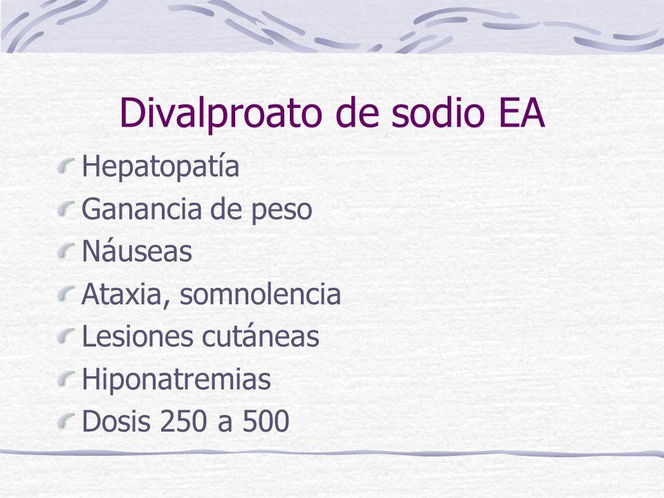 Divalproato de sodio EA