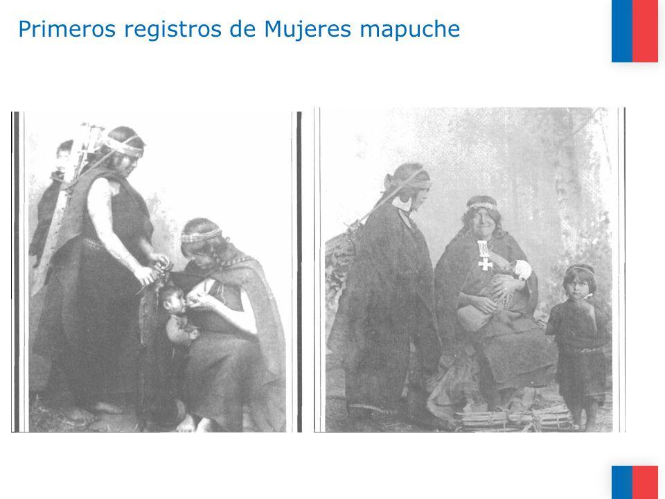Primeros registros de Mujeres mapuche