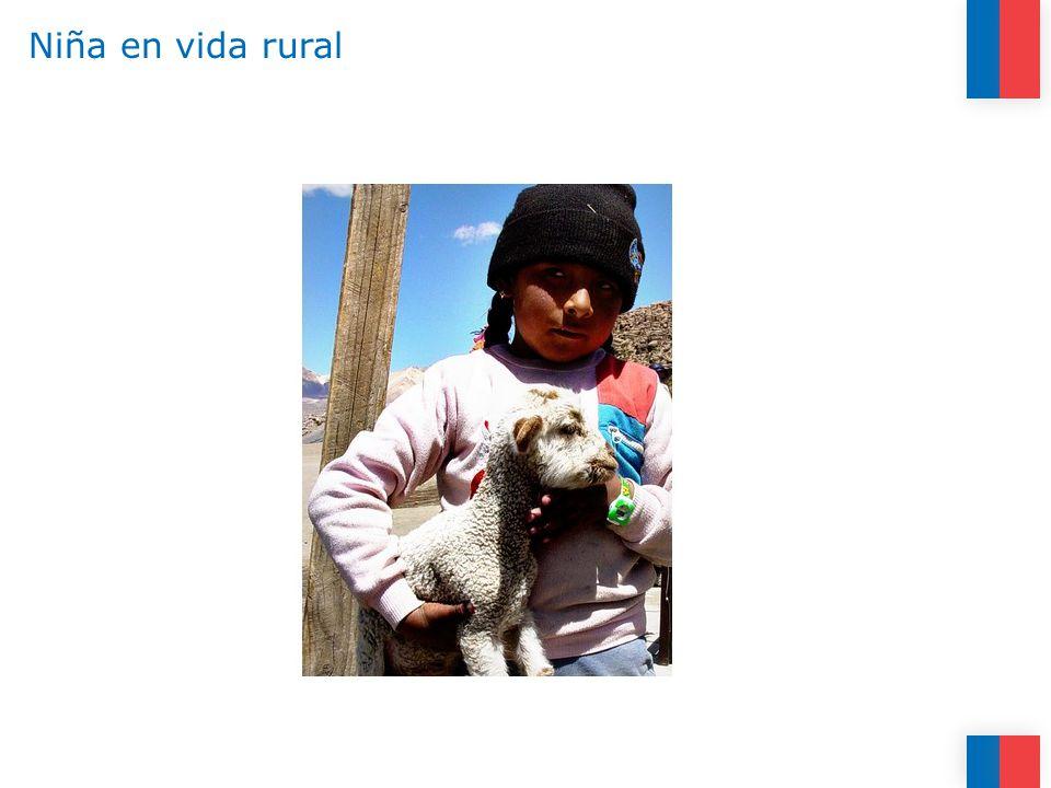 Niña en vida rural