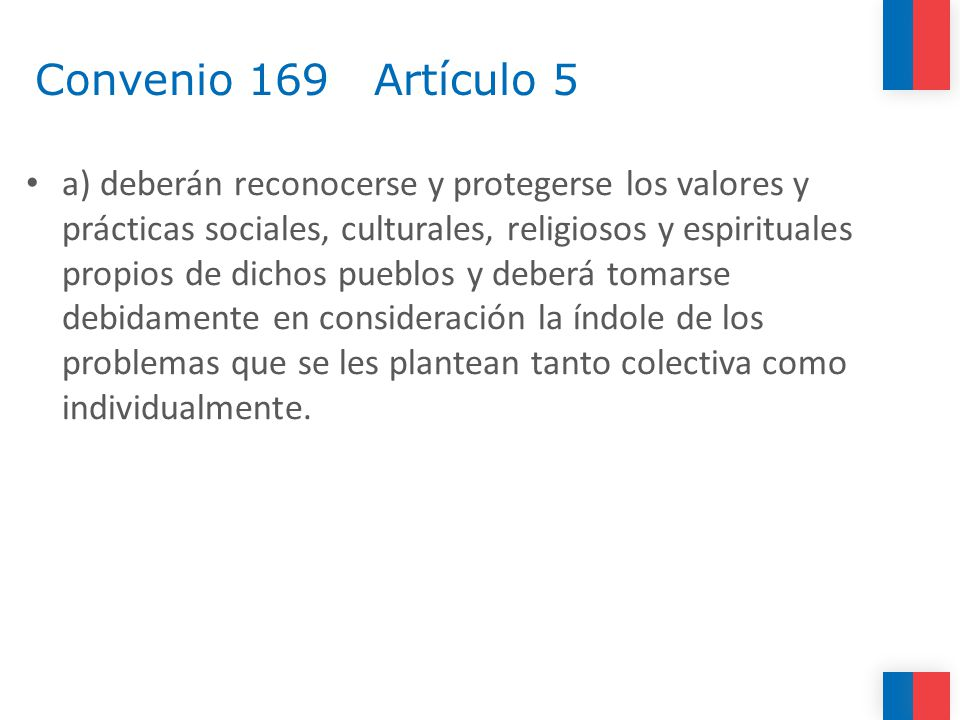 Convenio 169 Artículo 5