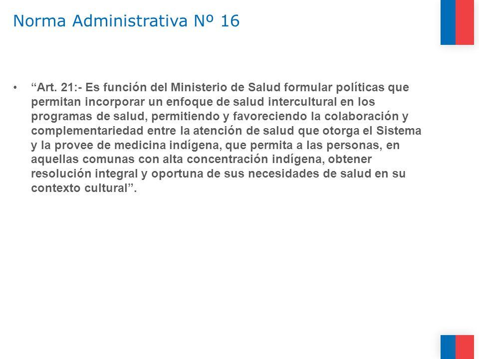Norma Administrativa Nº 16