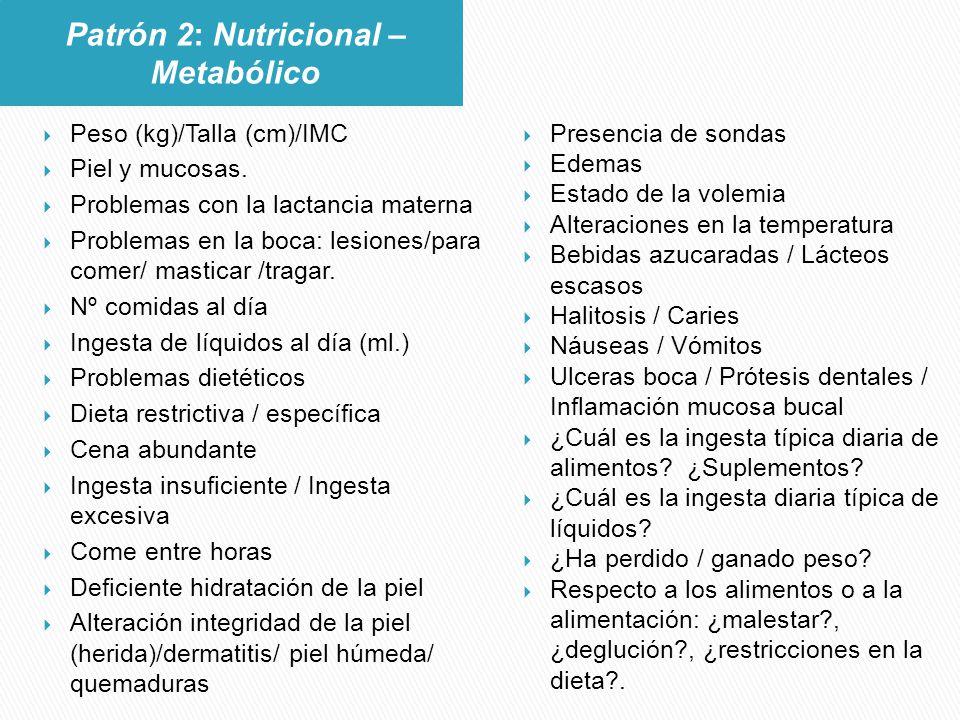 Patrón 2: Nutricional – Metabólico