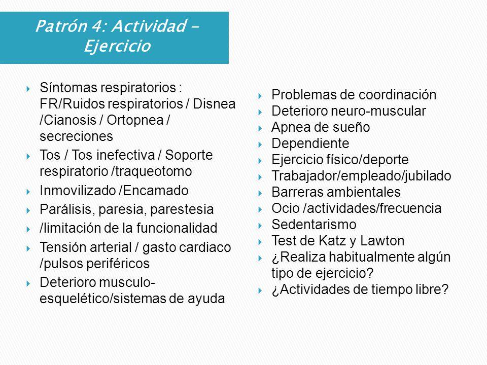 Patrón 4: Actividad - Ejercicio