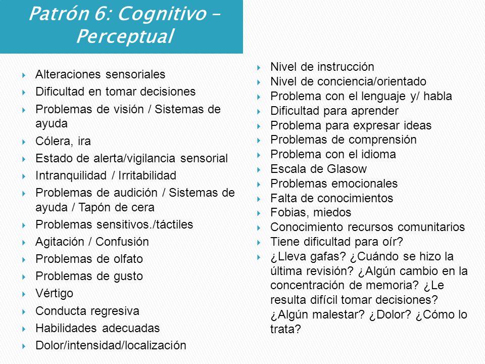 Patrón 6: Cognitivo – Perceptual