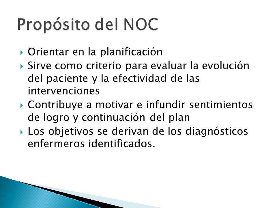 Propósito del NOC Orientar en la planificación
