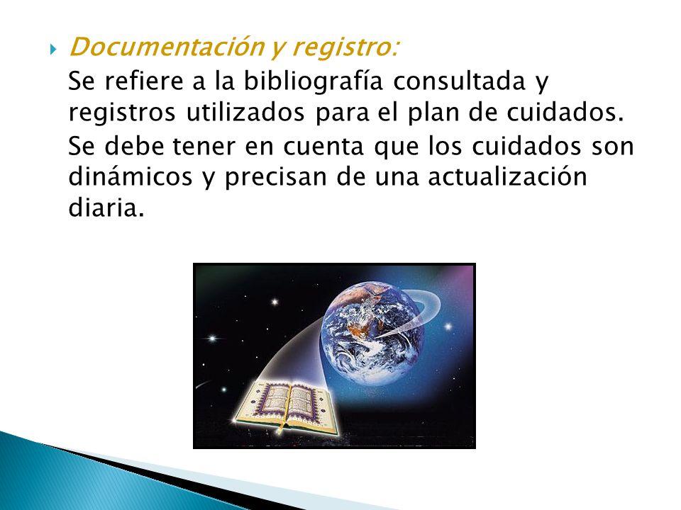 Documentación y registro:
