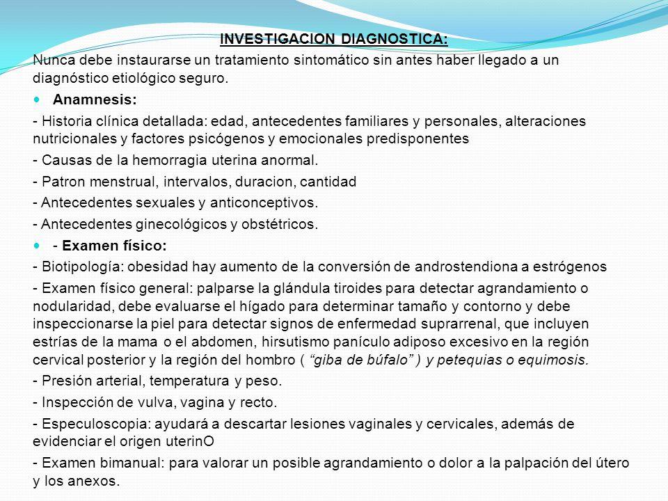 INVESTIGACION DIAGNOSTICA: