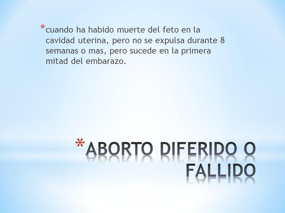 ABORTO DIFERIDO O FALLIDO