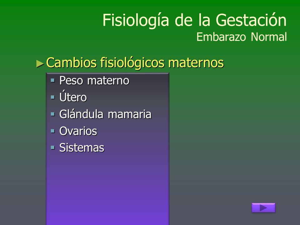 Fisiología de la Gestación Embarazo Normal