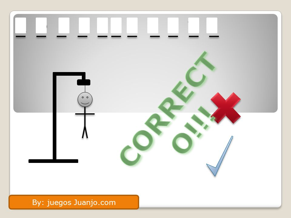 A D O L E S C E N T E CORRECTO!!! By: juegos Juanjo.com