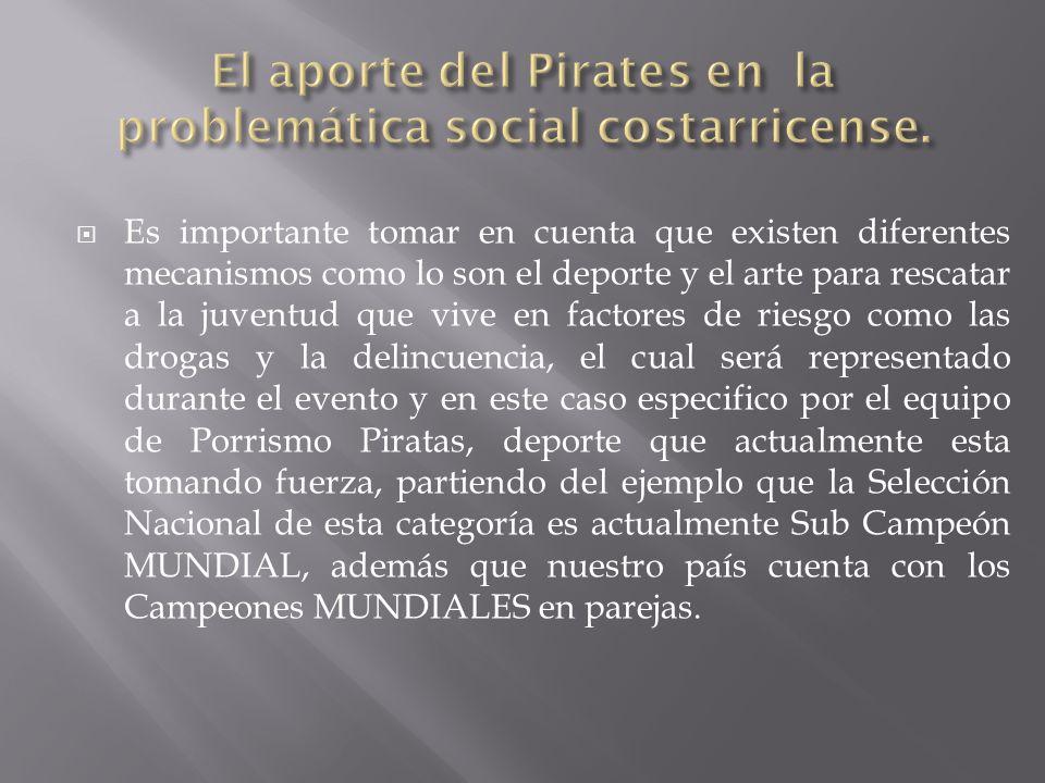 El aporte del Pirates en la problemática social costarricense.
