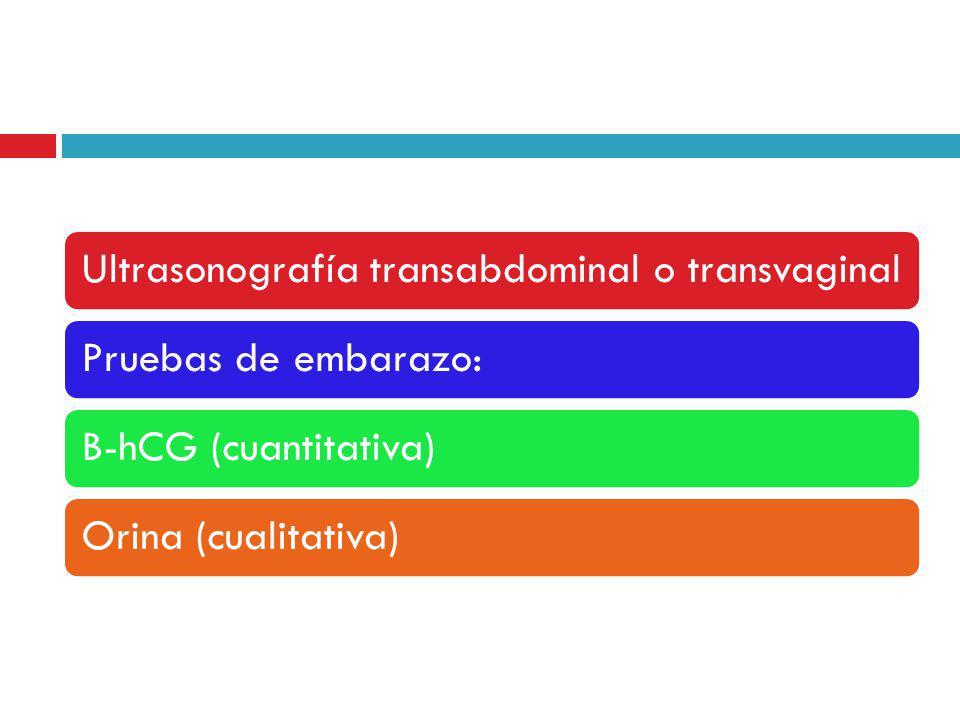 Ultrasonografía transabdominal o transvaginal