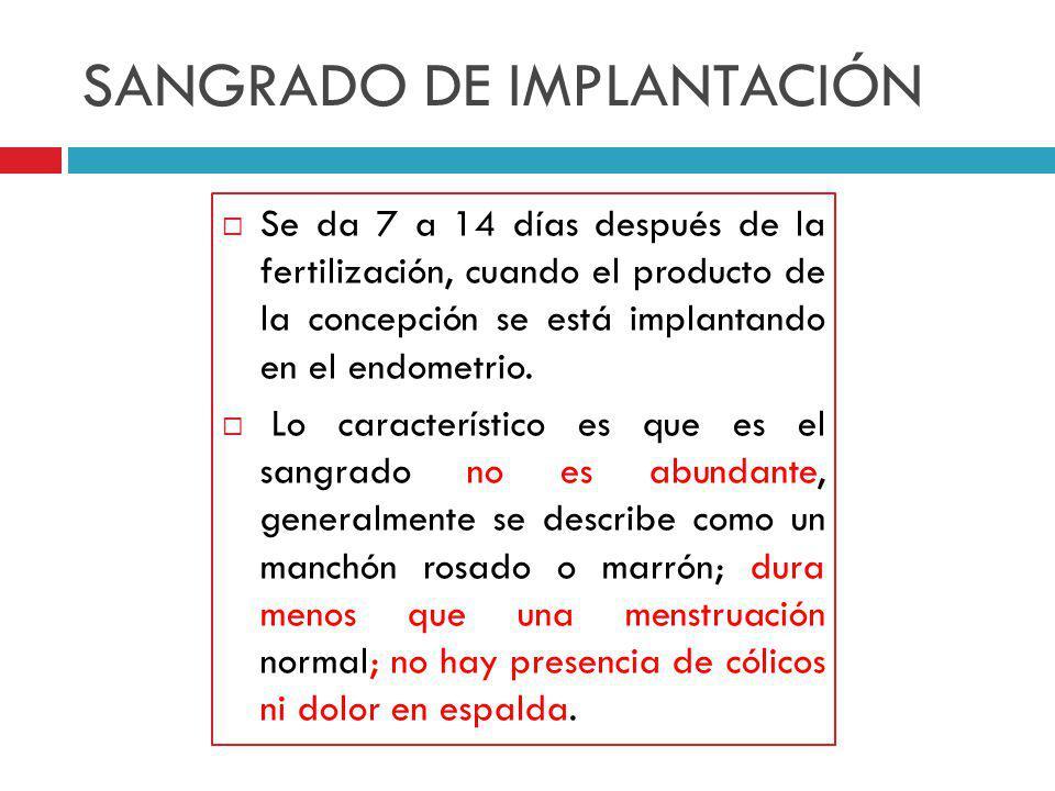 SANGRADO DE IMPLANTACIÓN