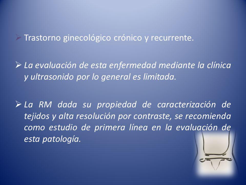 Trastorno ginecológico crónico y recurrente.