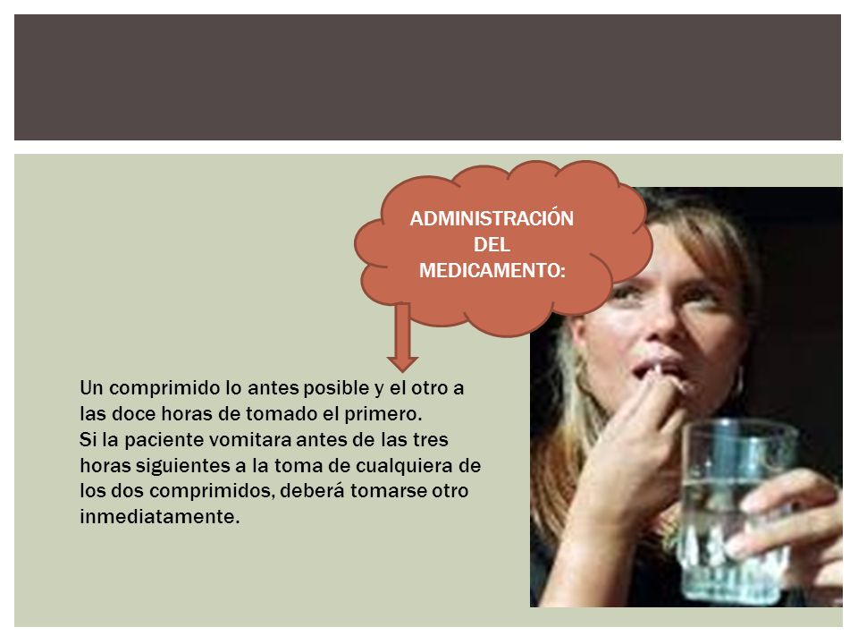 ADMINISTRACIÓN DEL MEDICAMENTO: