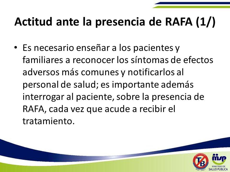 Actitud ante la presencia de RAFA (1/)
