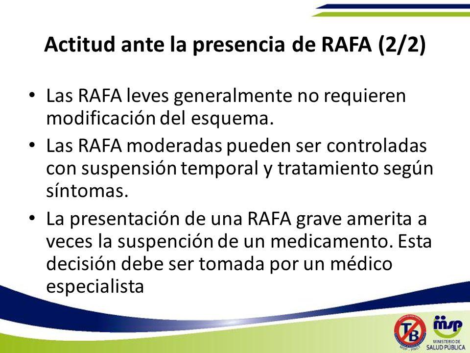 Actitud ante la presencia de RAFA (2/2)