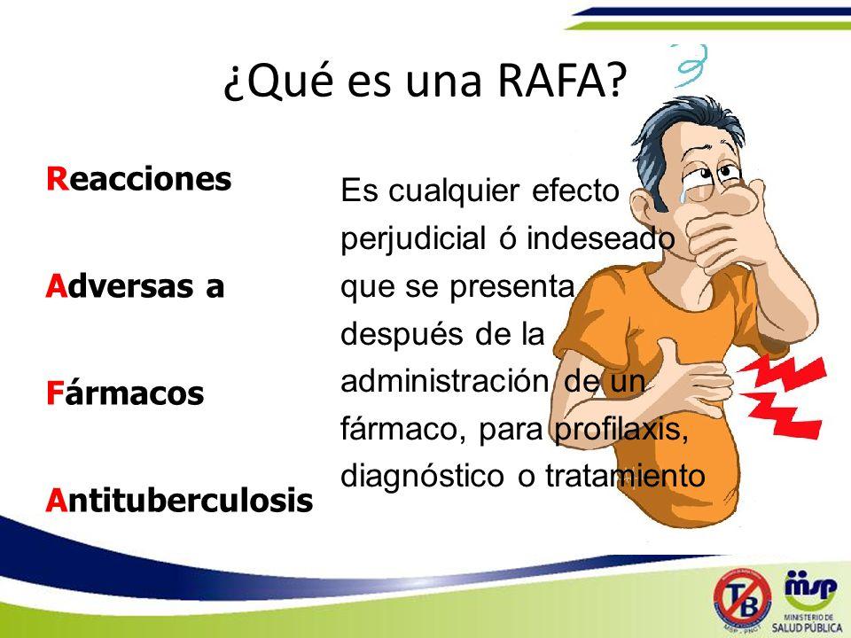 ¿Qué es una RAFA Reacciones Adversas a Fármacos Antituberculosis